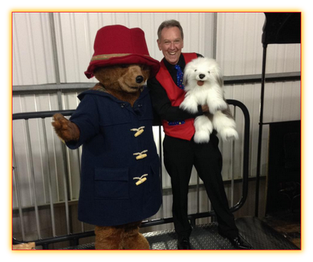 david oakley with paddington bear